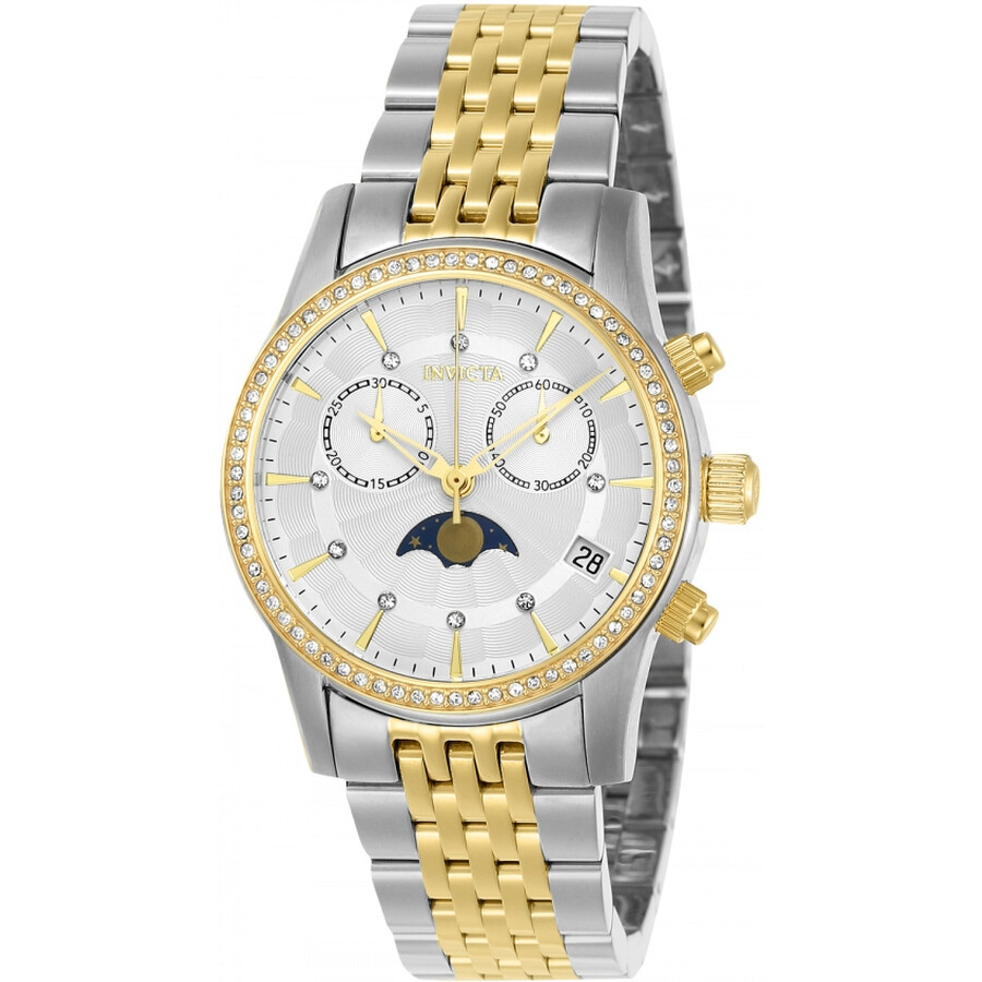Invicta Angel Chronograph Crystal White Dial Ladies Watch 22506