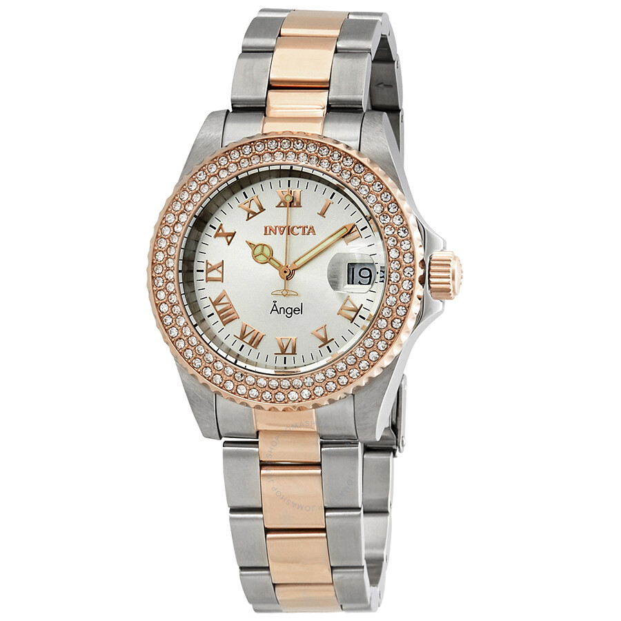 Invicta Angel Crystal Silver Dial Ladies Watch 21322
