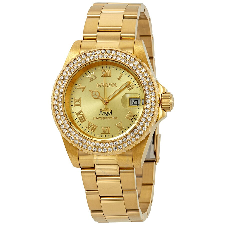Invicta Angel Gold Dial Ladies Watch 24614