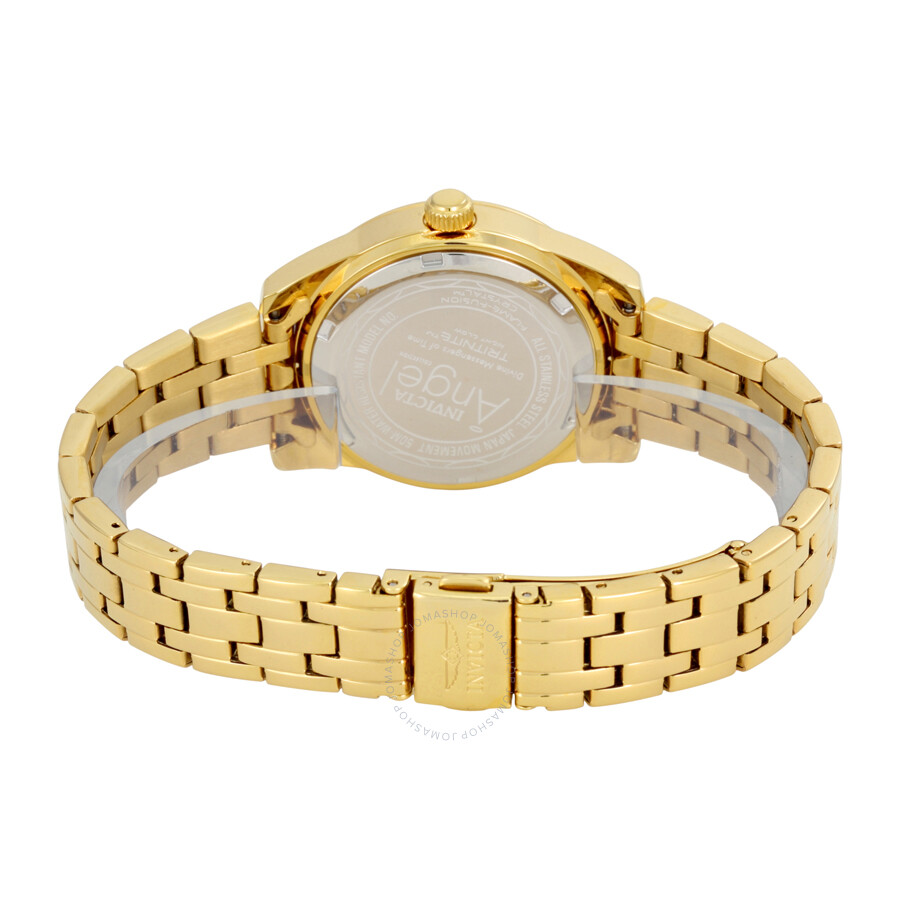 ... Invicta Angel Mother of Pearl Dial Gold-plated Ladies Watch 17488