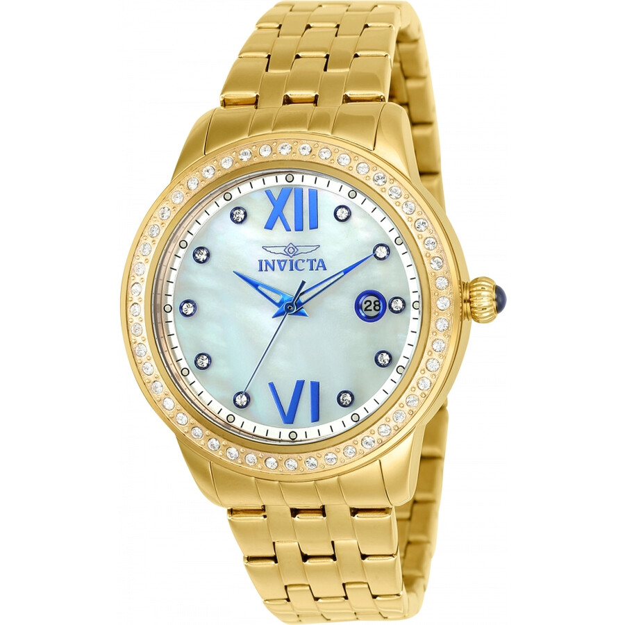 Invicta Angel Mother of Pearl Dial Ladies Watch 23662