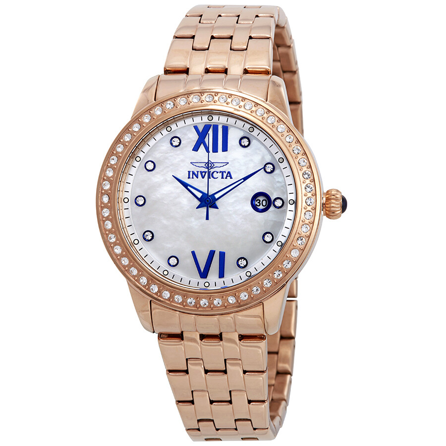 Invicta Angel Mother of Pearl Dial Ladies Watch 23663