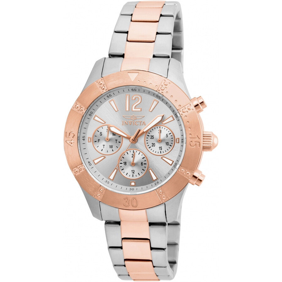 Invicta Angel Multi-Function Silver Dial Ladies Watch 22306