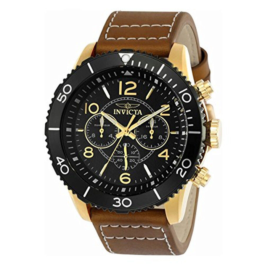 Invicta Aviator Chronograph Black Dial Mens Watch 24553