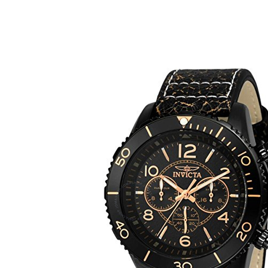 Invicta Aviator Chronograph Black Dial Mens Watch 24554