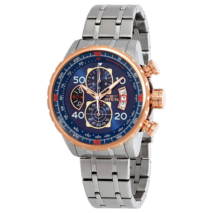 Invicta Aviator Chronograph Blue Dial Men's Watch 17203 ...