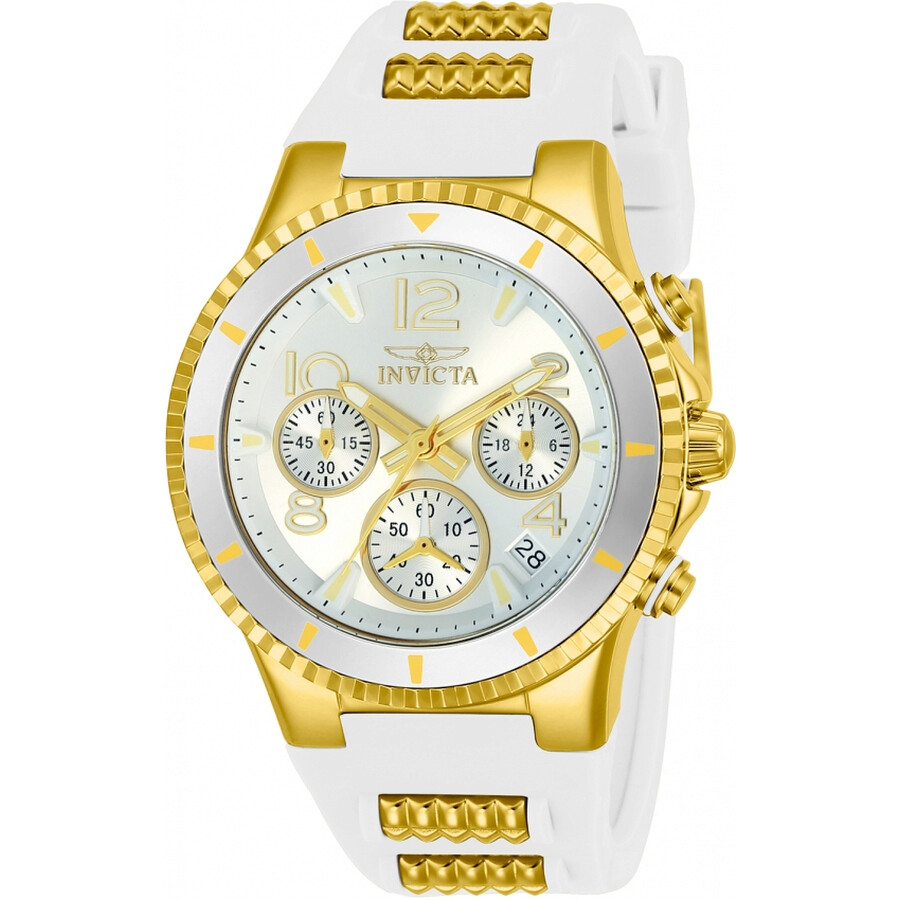 Invicta BLU Chronograph Silver Dial Ladies Watch 24187
