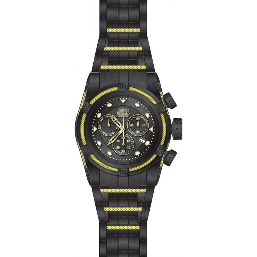 Invicta Bolt Chronograph Black Dial Mens Watch 23917