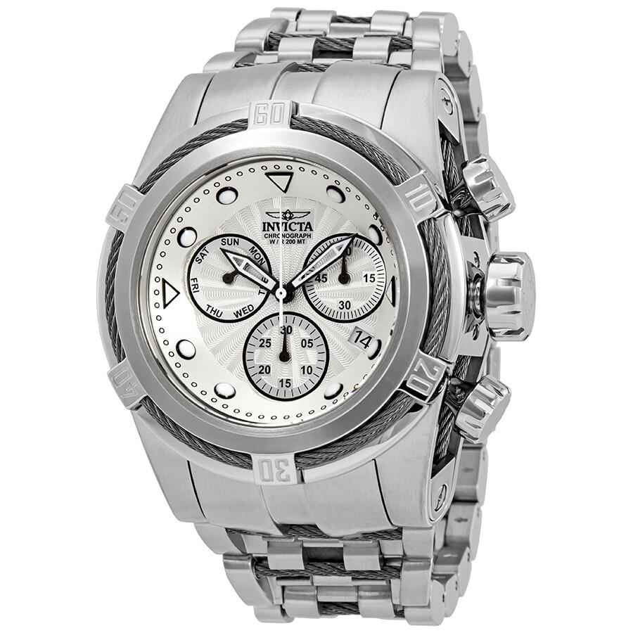 Invicta Bolt Chronograph Silver Dial Mens Watch 23909