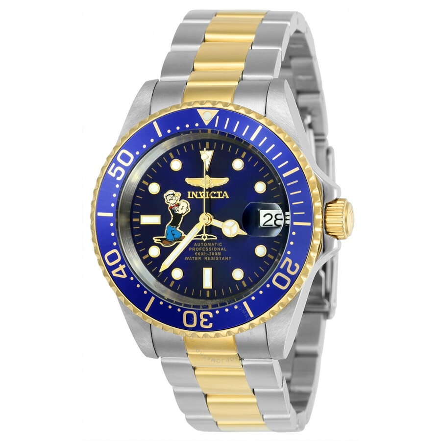 Invicta Character Collection Automatic Blue Dial Mens Watch 24487