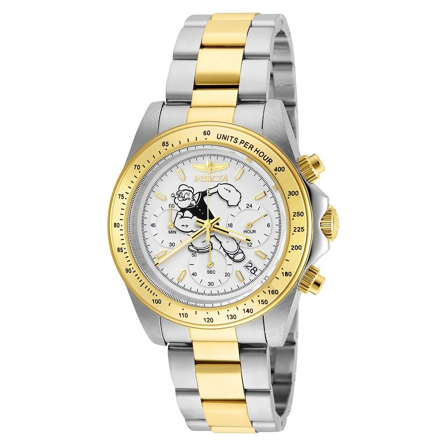 Invicta Character Collection Chronograph Silver Dial Mens Watch 24483