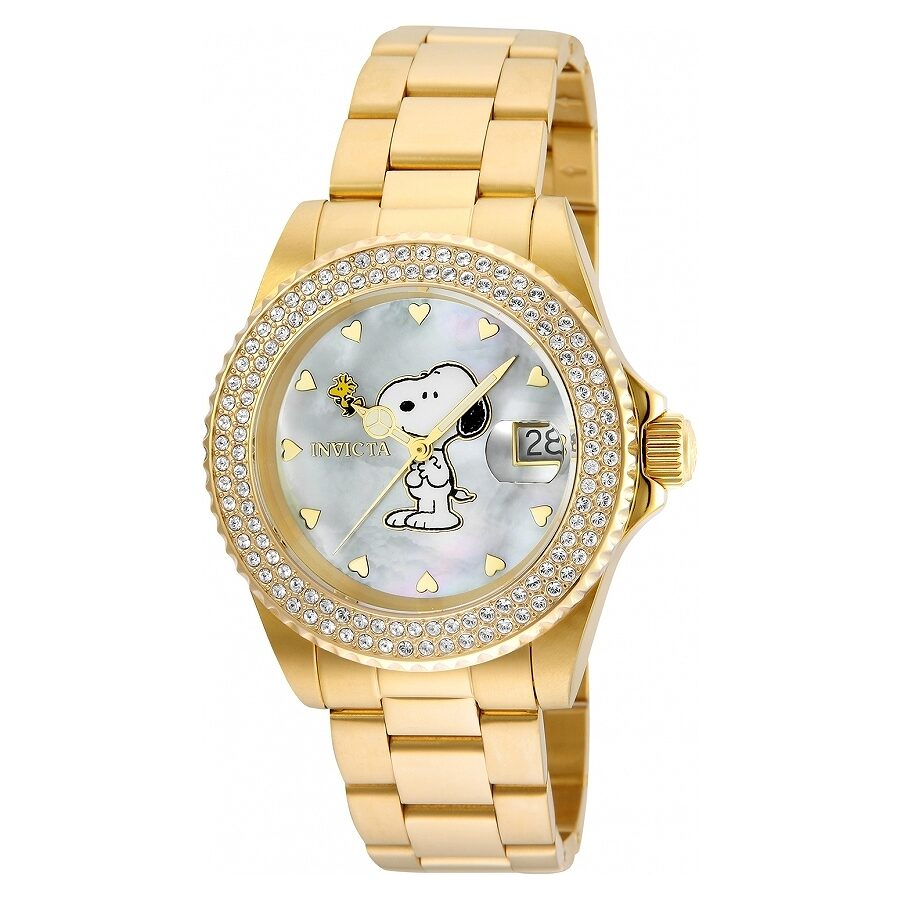 Invicta Character Collection Gold Dial Ladies Watch 24809