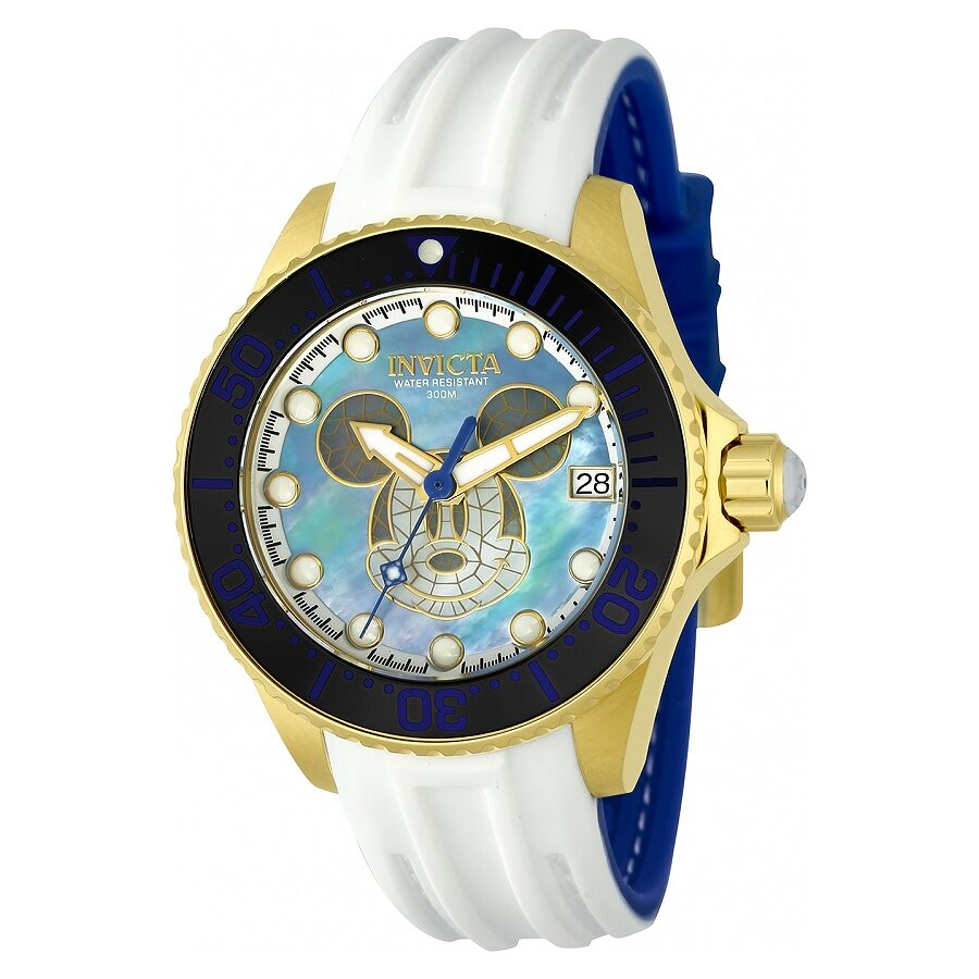 Invicta Disney Automatic Blue Mother of Pearl  Dial Ladies Watch 22754