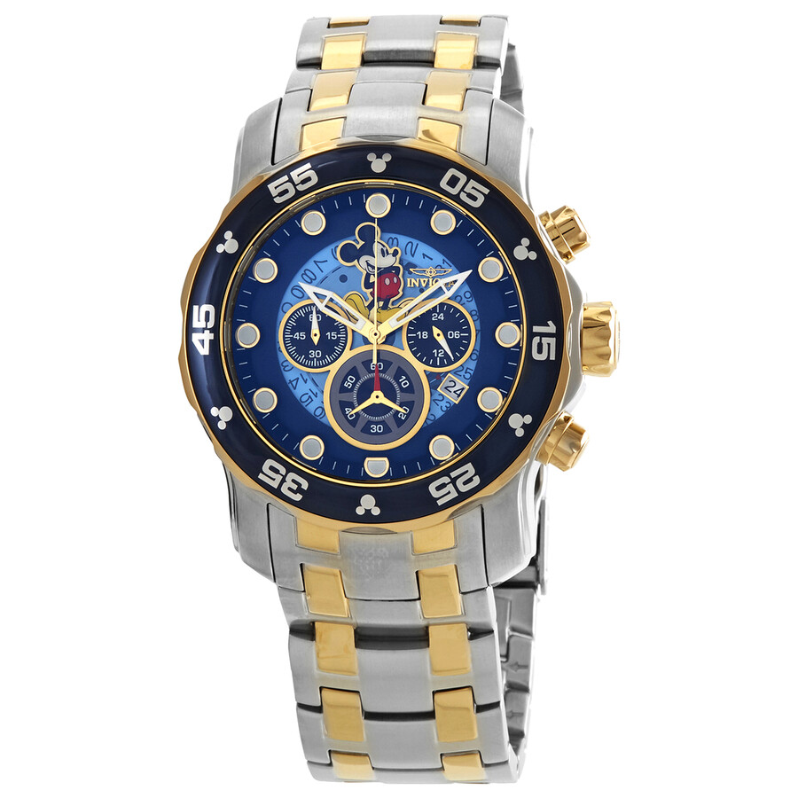 Invicta Disney Limited Chronograph Blue Dial Mens Watch 23769