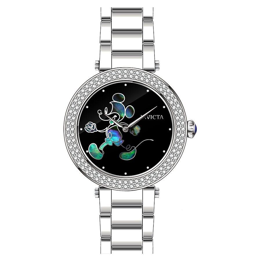 Invicta Disney Limited Edition Black Enamel  Dial Ladies Watch 23780