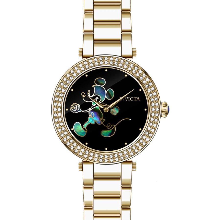 Invicta Disney Limited Edition Black Enamel Dial Ladies Watch 23789