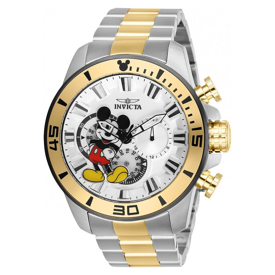 Invicta Disney Limited Edition Chronograph White Dial Mens Watch 27366