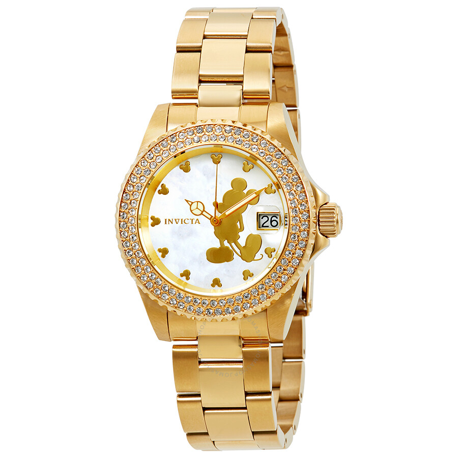 Invicta Disney Limited Edition Mother of Pearl Dial Ladies Watch 22728