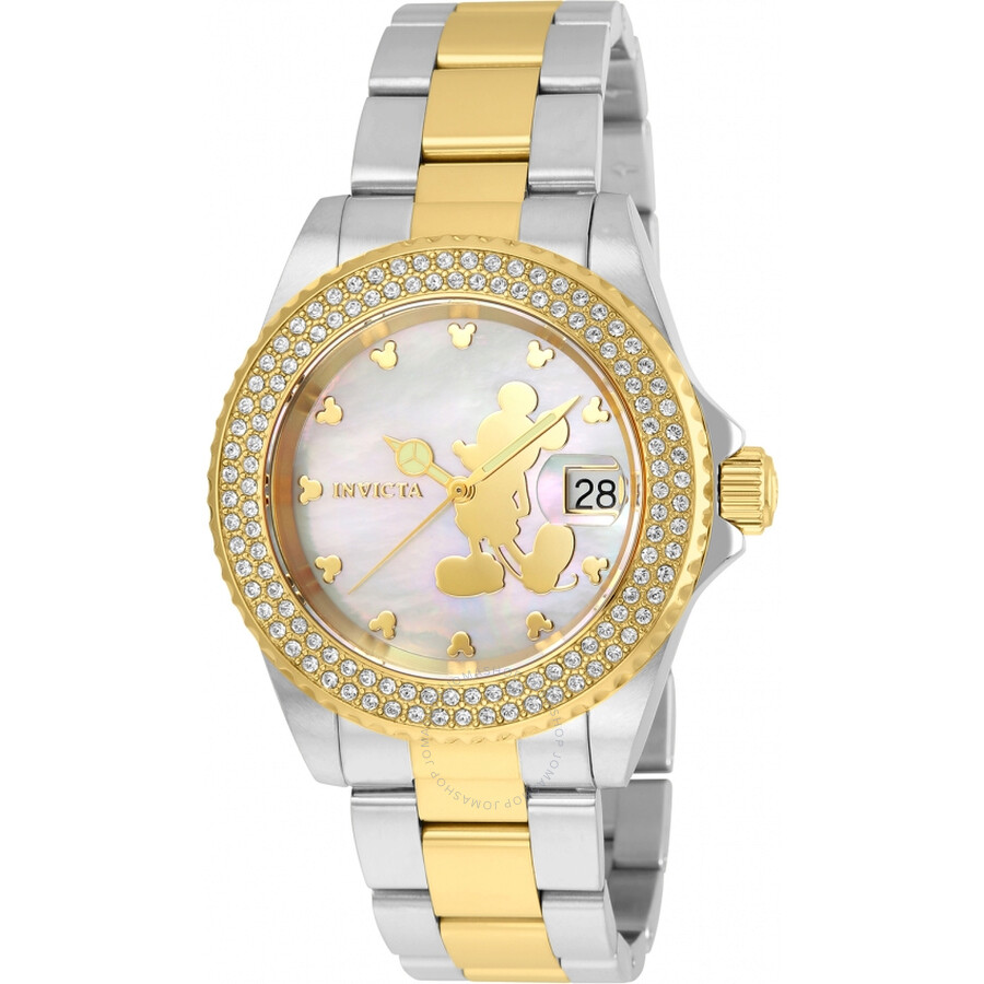Invicta Disney Limited Edition Mother of Pearl Dial Ladies Watch 22729