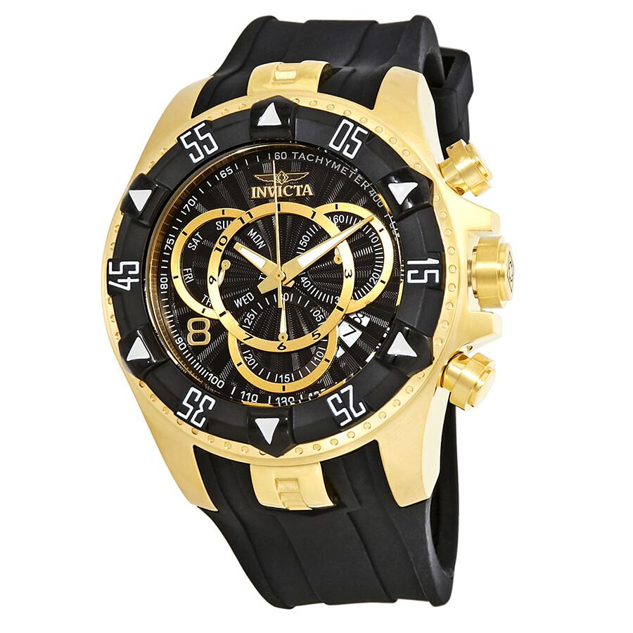 Invicta Excursion Chronograph Black Dial Mens Watch 24275