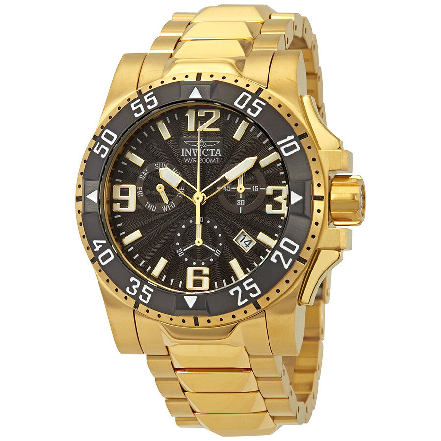 Invicta Excursion Chronograph Black Dial Mens Watch 23903