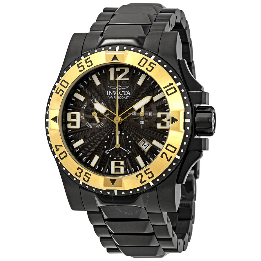 Invicta Excursion Chronograph Black Dial Mens Watch 23906