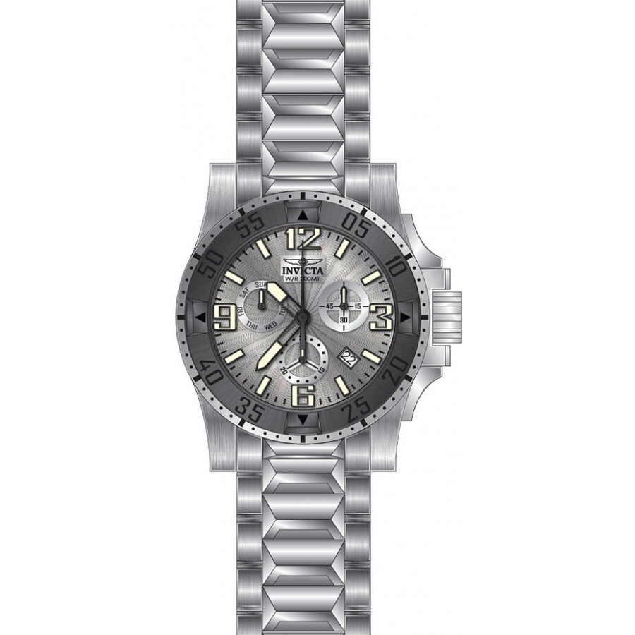 Invicta Excursion Chronograph Silver Dial Mens Watch 23901