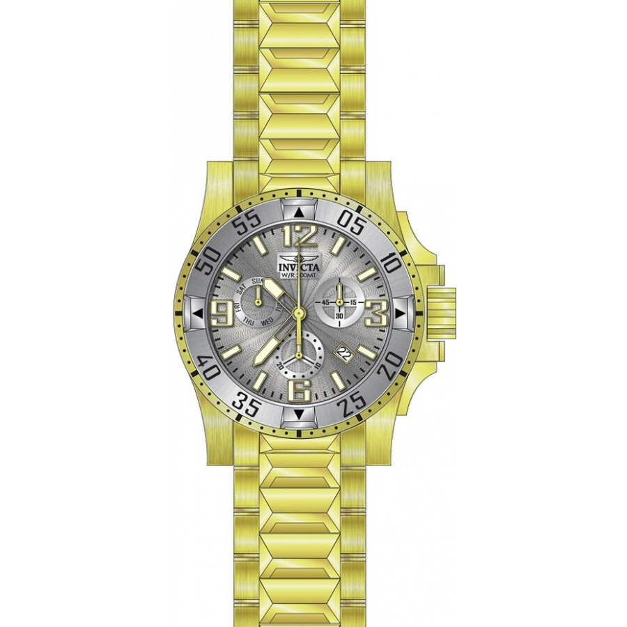 Invicta Excursion Chronograph Silver Dial Mens Watch 23905
