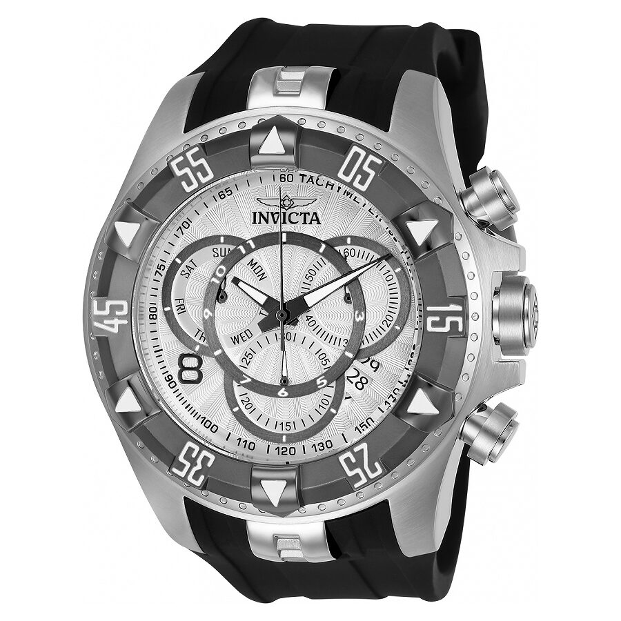 Invicta Excursion Chronograph Silver Dial Mens Watch 24272