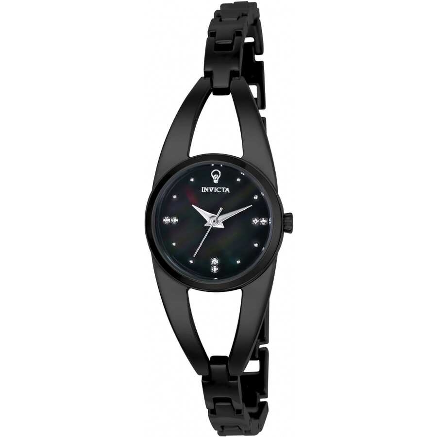 Invicta Gabrielle Union Black Oyster Dial Ladies Watch 23315