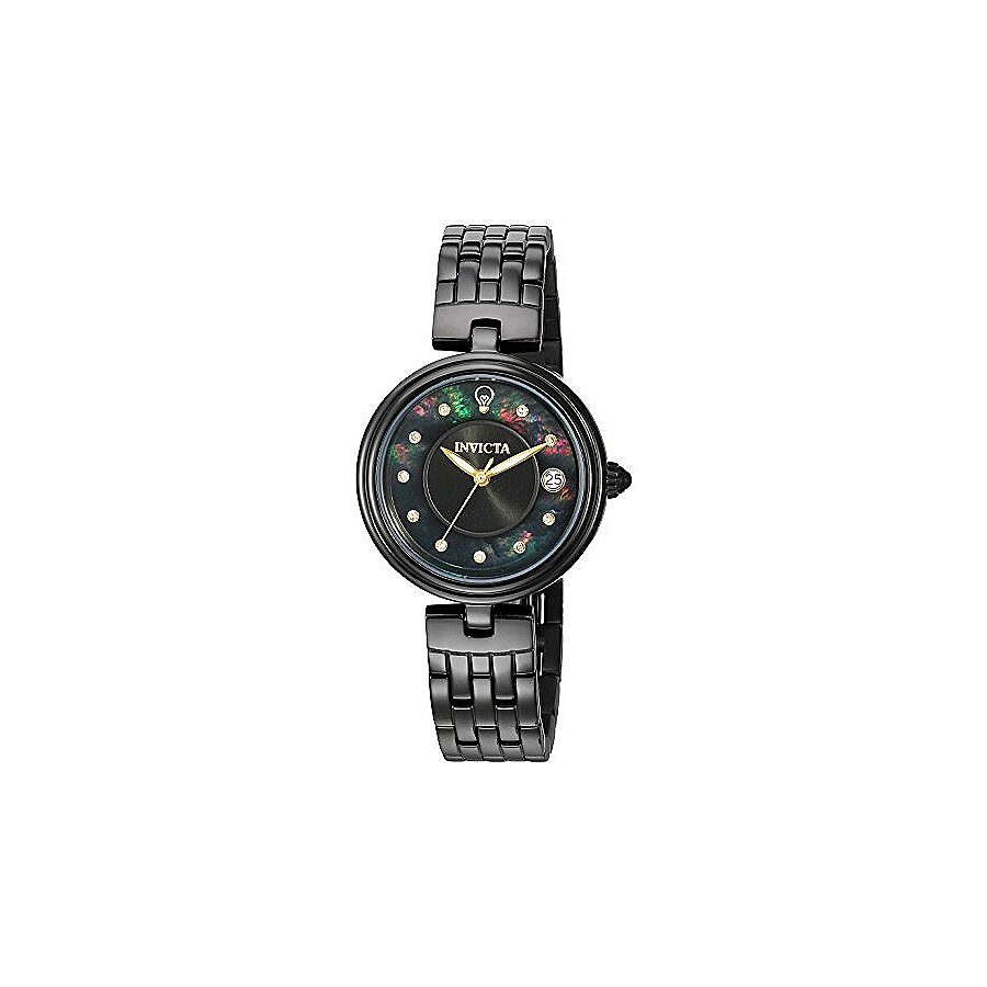 Invicta Gabrielle Union Black Mother of Pearl Dial Ladies Watch 22899