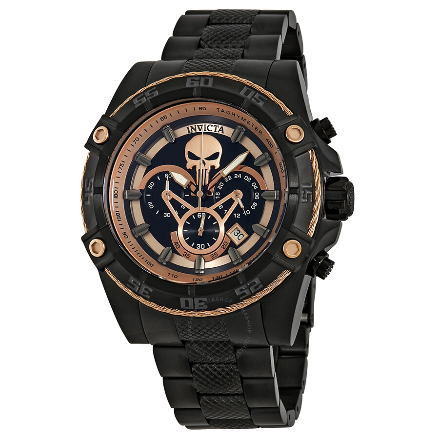 Invicta Marvel Chronograph Black Dial Mens Watch 26866