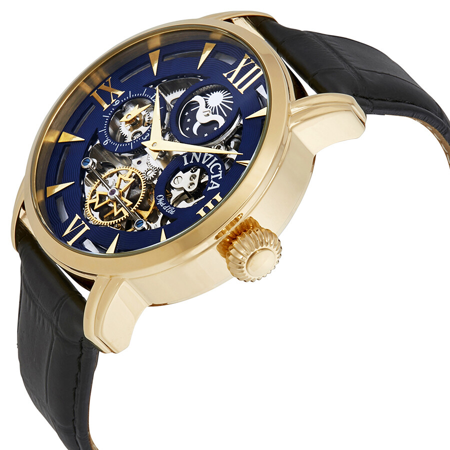 ... Invicta Objet D Art Automatic Blue Dial Men's Watch 22651 ...