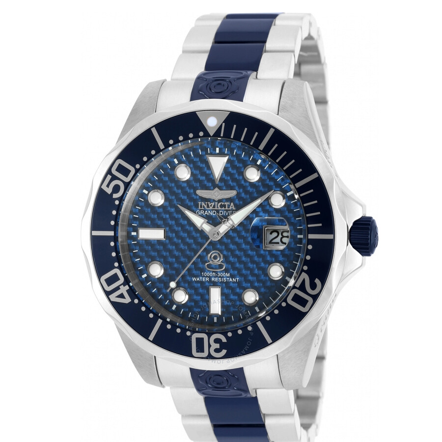 Invicta Pro Diver Automatic Blue Carbon Fiber Dial Mens Watch 90200
