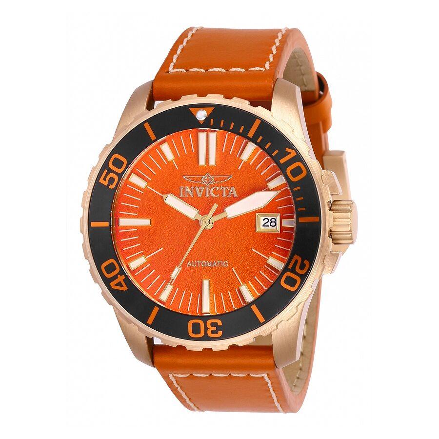 invicta pro diver automatic orange dial men 39 s watch 25646 pro diver master of the oceans pro. Black Bedroom Furniture Sets. Home Design Ideas