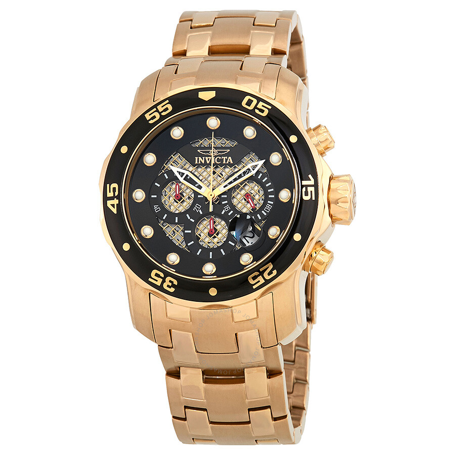 Invicta Pro Diver Chronograph Black Dial Mens Watch 25332