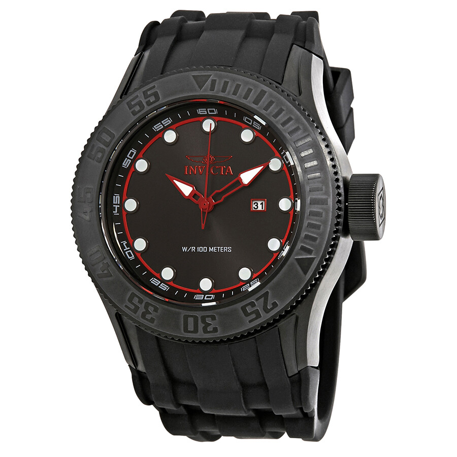 invicta male invicta pro diver black dial black rubber mens watch 22248