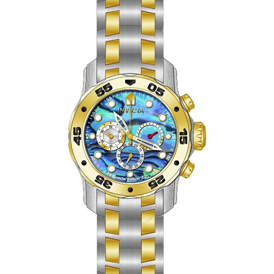 Invicta Pro Diver Blue Abalone Dial Mens Watch 24836