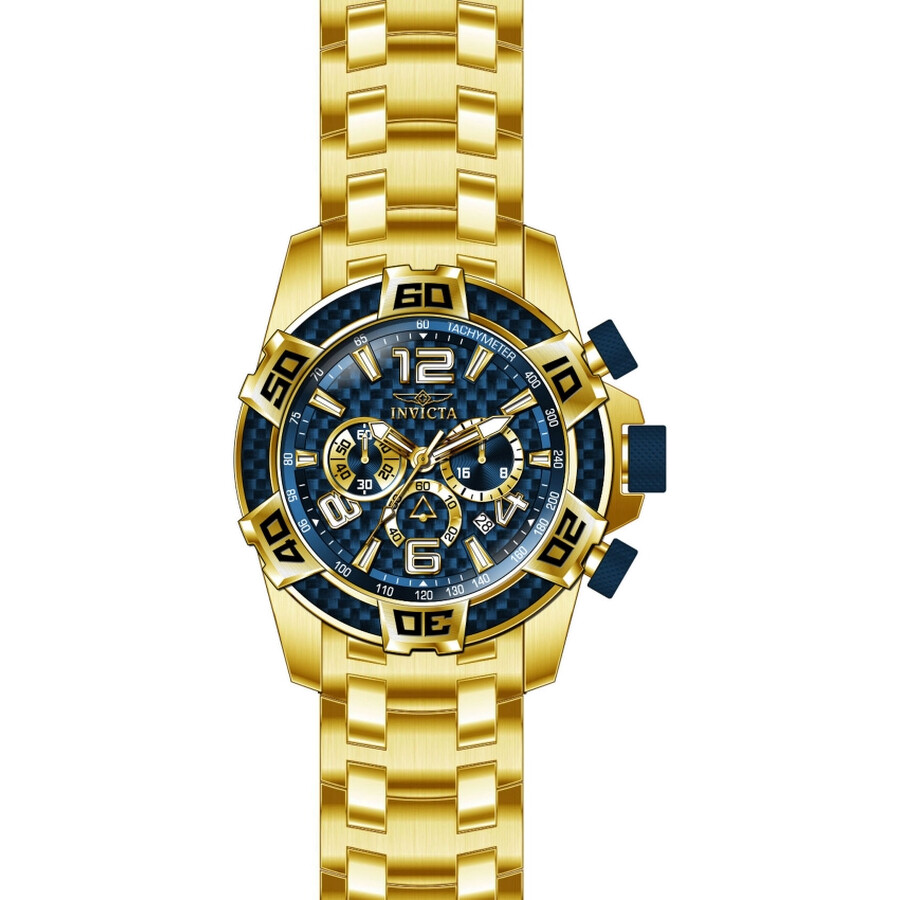 Invicta Pro Diver Blue Dial Chronograph Mens Watch 25852