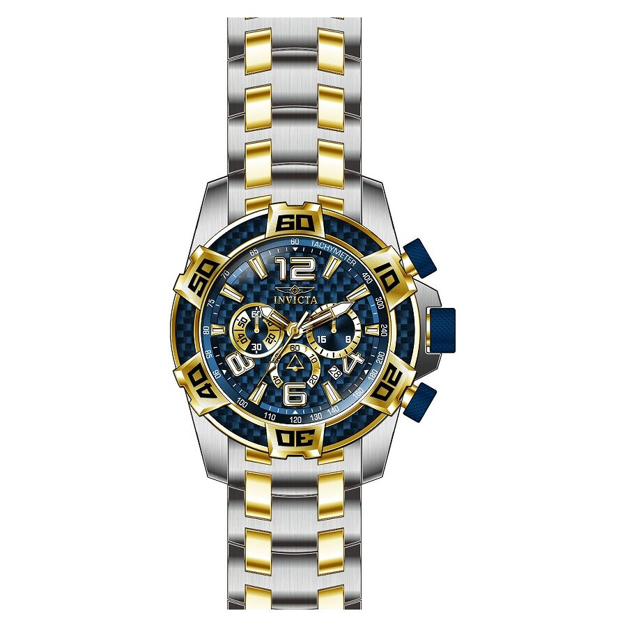 Invicta Pro Diver Blue Dial Chronograph Mens Watch 25855
