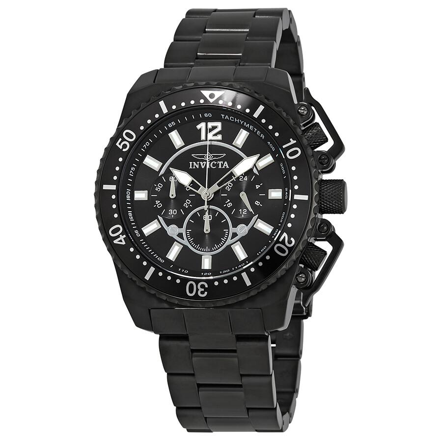 Invicta Pro Diver Chronograph Black Dial Men's Watch 21959 ...
