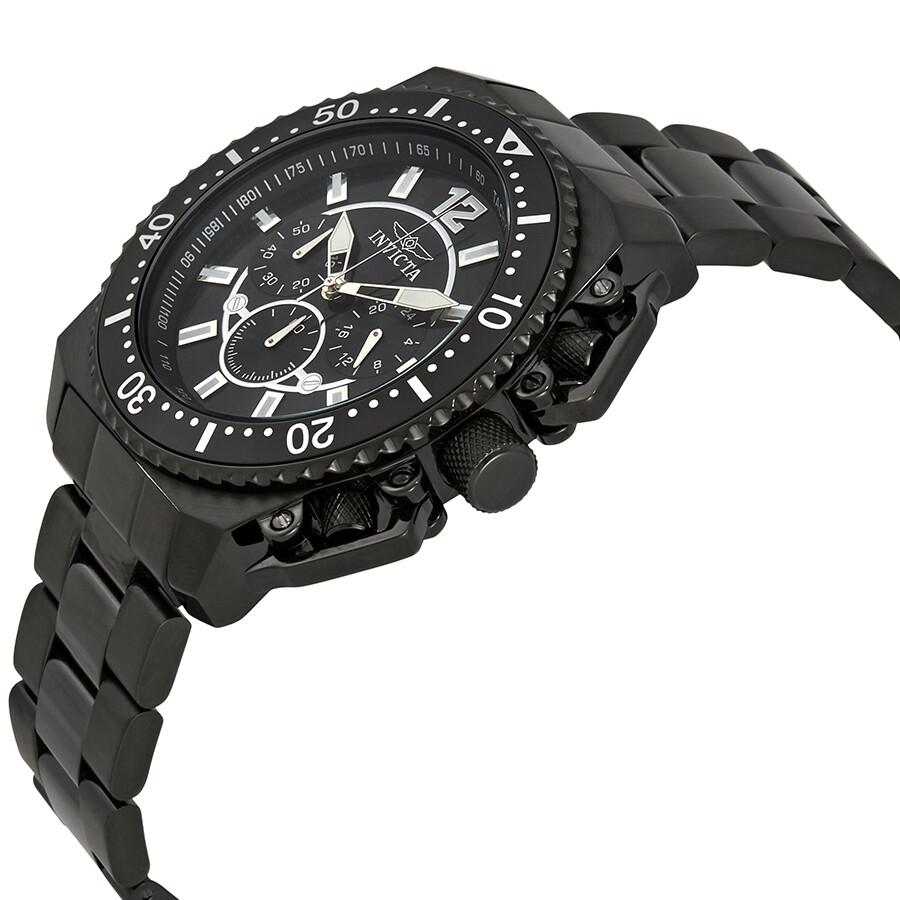 ... Invicta Pro Diver Chronograph Black Dial Men's Watch 21959 ...