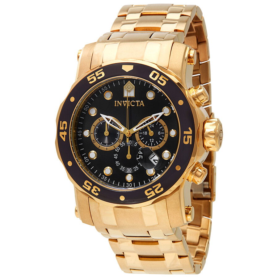 Invicta Pro Diver Chronograph Black Dial Mens Watch 23650