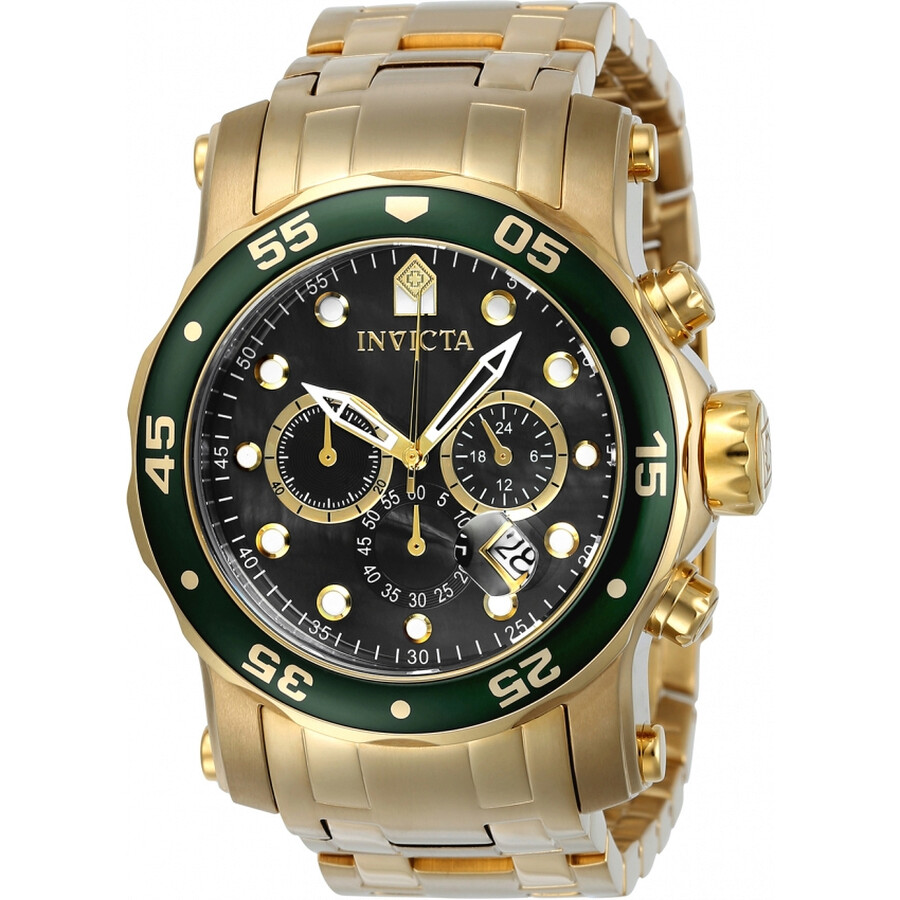Invicta Pro Diver Chronograph Black Dial Mens Watch 23671