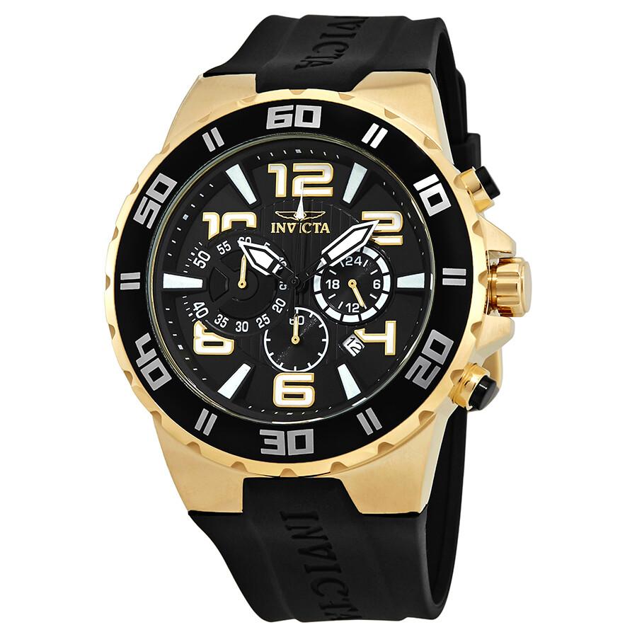 Invicta Pro Diver Chronograph Black Dial Mens Watch 24671