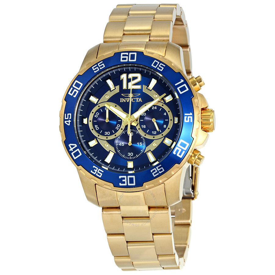 Invicta Pro Diver Chronograph Blue Dial Mens Watch 22714