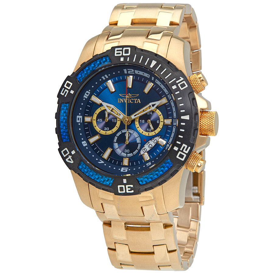 Invicta Pro Diver Chronograph Blue Dial Mens Watch 24856