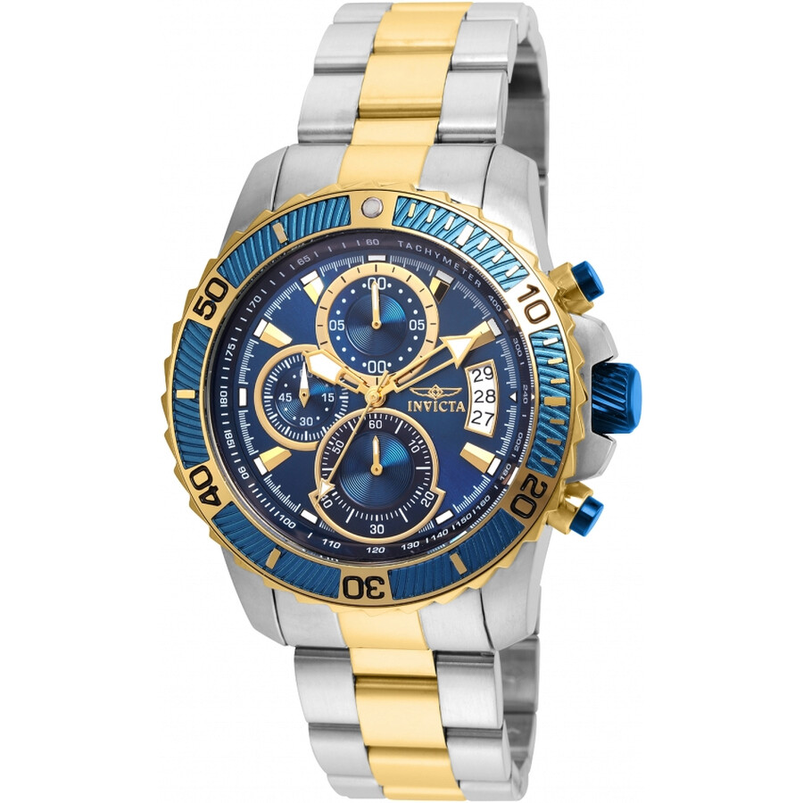 Invicta Pro Diver Chronograph Blue Dial Mens Watch 22415