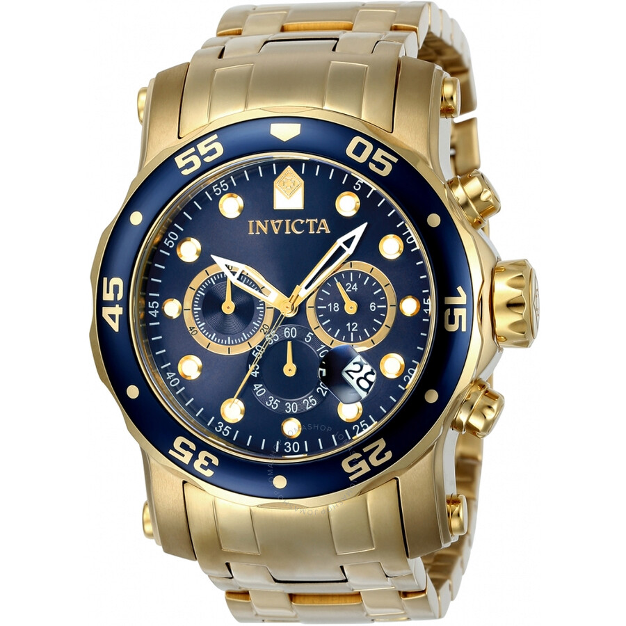 Invicta Pro Diver Chronograph Blue Dial Mens Watch 23651