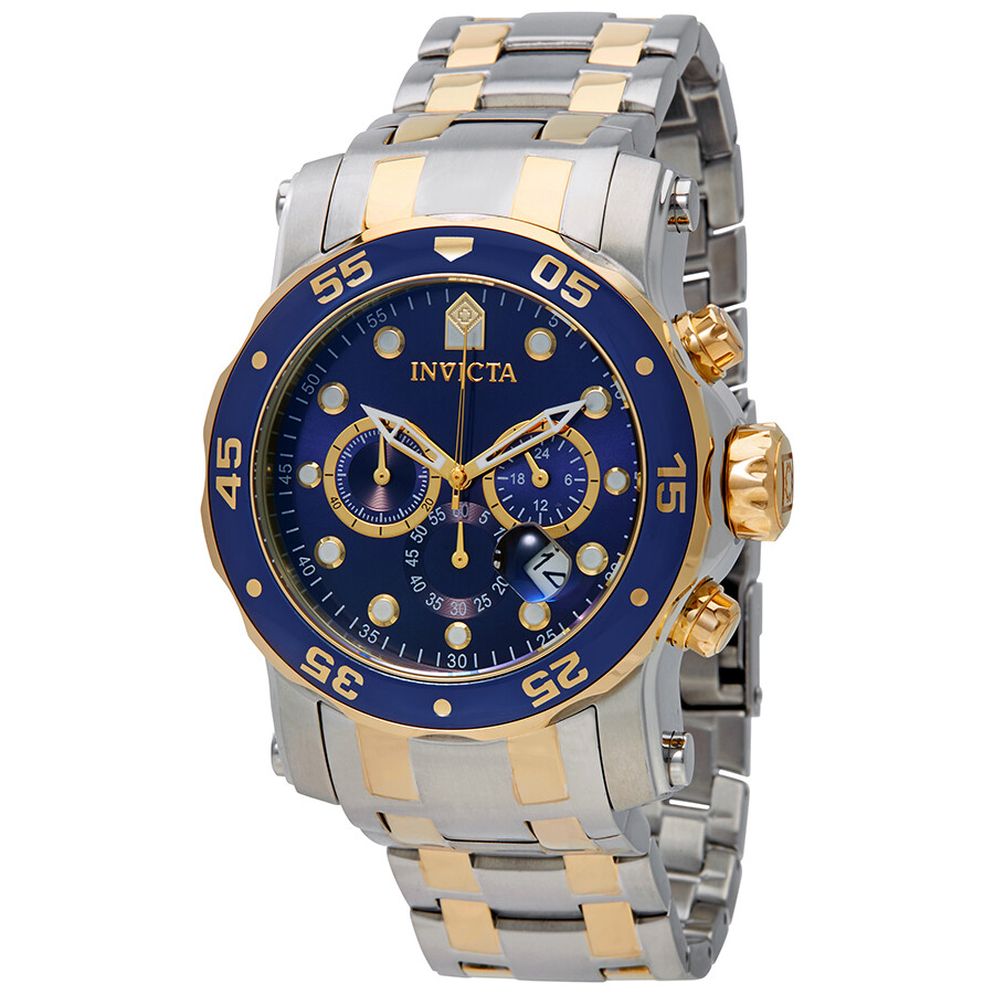 Invicta Pro Diver Chronograph Blue Dial Mens Watch 23668